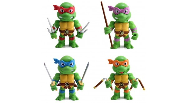 Jada Metals Die Cast Teenage Nickelodeon Mutant Ninja Turtles Lot
