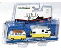 Greenlight Hitch & Tow VW Samba Bus and Shasta Airflyte Set