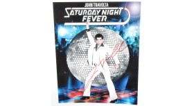 John Travolta Saturday Night Fever Signed Photo