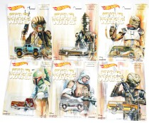 Hot Wheels 2017 Pop Culture Star Wars Complete Set