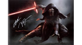 Star Wars Adam Driver Signed Photo Kylo Ren