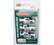 Majorette Dubai Police Super Cars 3 Pieces Set