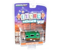 Greenlight Hitched Homes 1958 Siesta Travel Trailer Green Machine