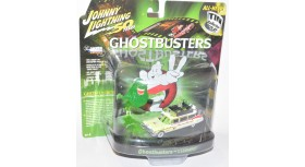 Johnny Lightning Ecto-1A 1959 Cadillac Ghostbusters Slimed Tin Diorama