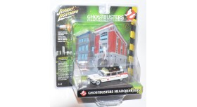 Johnny Lightning Ecto-1A 1959 Cadillac Ghostbusters Headquarters Diorama