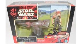 Gungan Assault Cannon With Jar Jar Binks