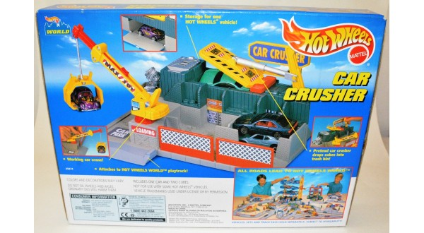 hw car crusher playset universal classic toys