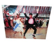 John Travolta Oivia Newton John Grease Signed Photo