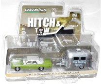 Greenlight Hitch & Tow 1974 Dodge Monaco and Airstream 16' Bambi