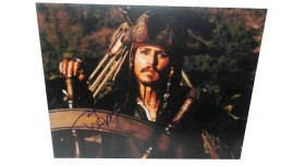Johnny Depp Pirates of the Caribbean Signed Photo