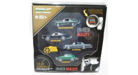 Greenlight Hollywood Steve McQueen Bullitt Four-Car Set
