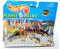 Hot Wheels Planet Micro Gold Urban Rescue Set