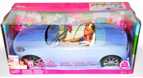 Mattel 2007 Barbie Purple Convertible Car